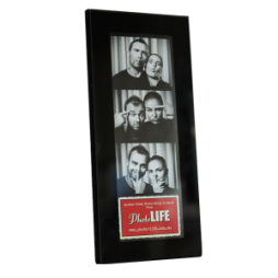 Black Glass Photostrip Frame 2x6_Front