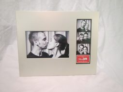 Frame 8 - 4x6 Photo and 2x6 Photo Booth Strip Frame - Silver_Front