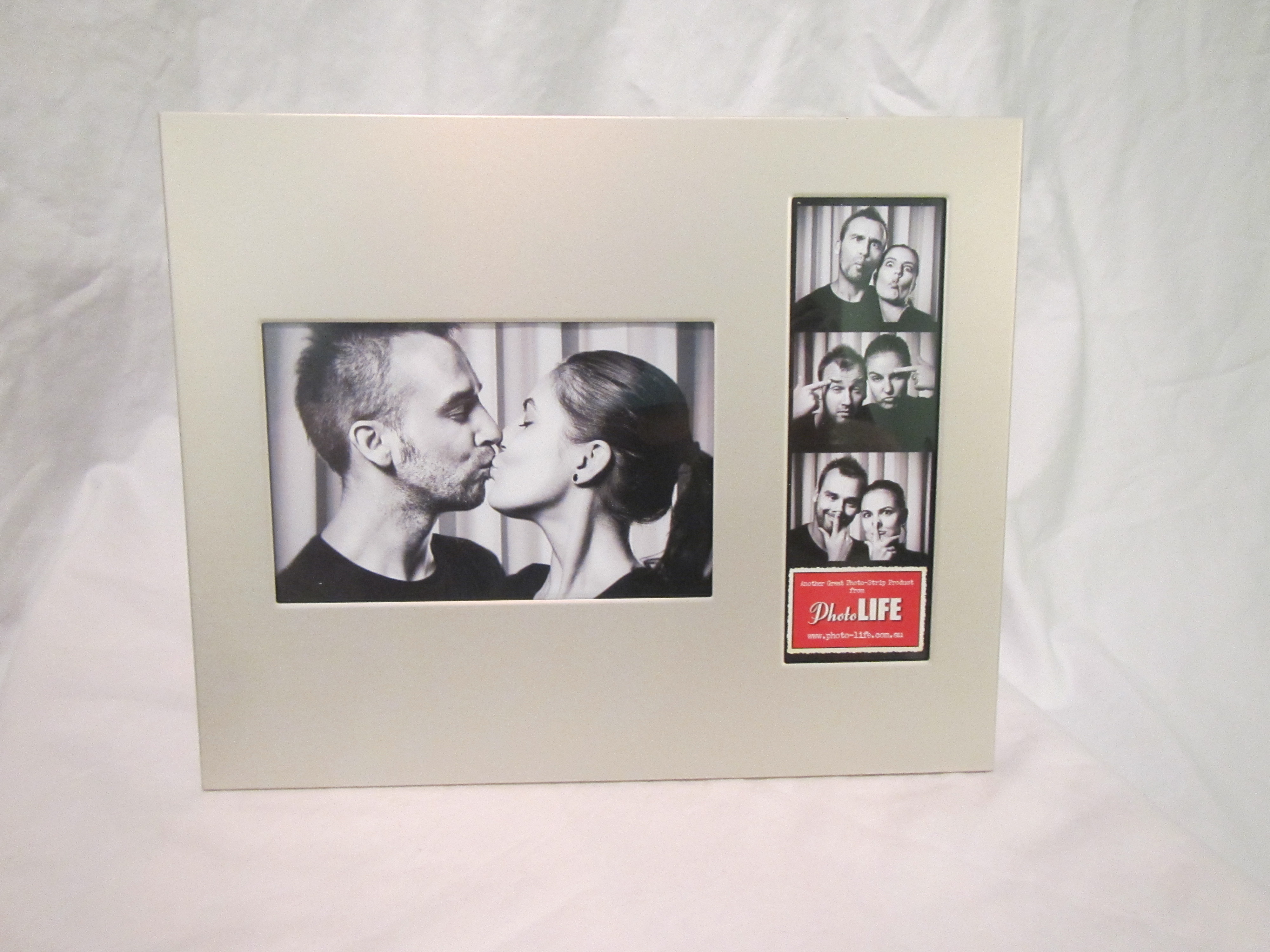 Photo Frame 4x6 Photo And 2x6 Photo Booth Strip Frame Silver