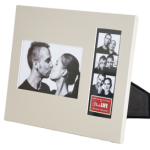Frame 8 - 4x6 Photo and 2x6 Photo Booth Strip Frame - Silver_Left