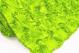 Super Premium Backdrop - Apple Green Rosette Satin