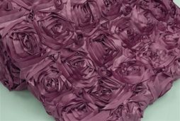 Super Premium Backdrop - Eggplant Purple Rosette Satin