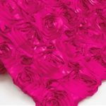 Super Premium Backdrop - Fuschia Rosette Satin
