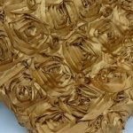 Super Premium Backdrop - Gold Rosette Satin