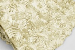 Super Premium Backdrop - Ivory Rosette Satin