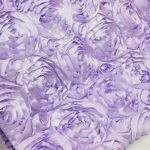 Super Premium Backdrop - Lavender Rosette Satin