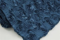 Super Premium Backdrop - Navy Blue Rosette Satin