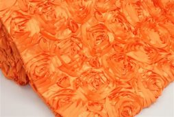Super Premium Backdrop - Orange Rosette Satin