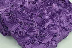 Super Premium Backdrop - Purple Rosette Satin