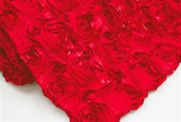 Super Premium Backdrop - Red Rosette Satin