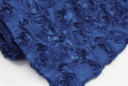 Super Premium Backdrop - Royal Blue Rosette Satin