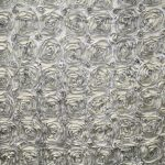 Super Premium Backdrop - Silver Rosette Distance View