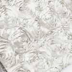 Super Premium Backdrop - White Rosette Satin